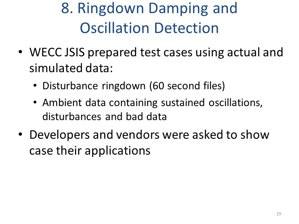 8. Ringdown Damping and Oscillation Detection