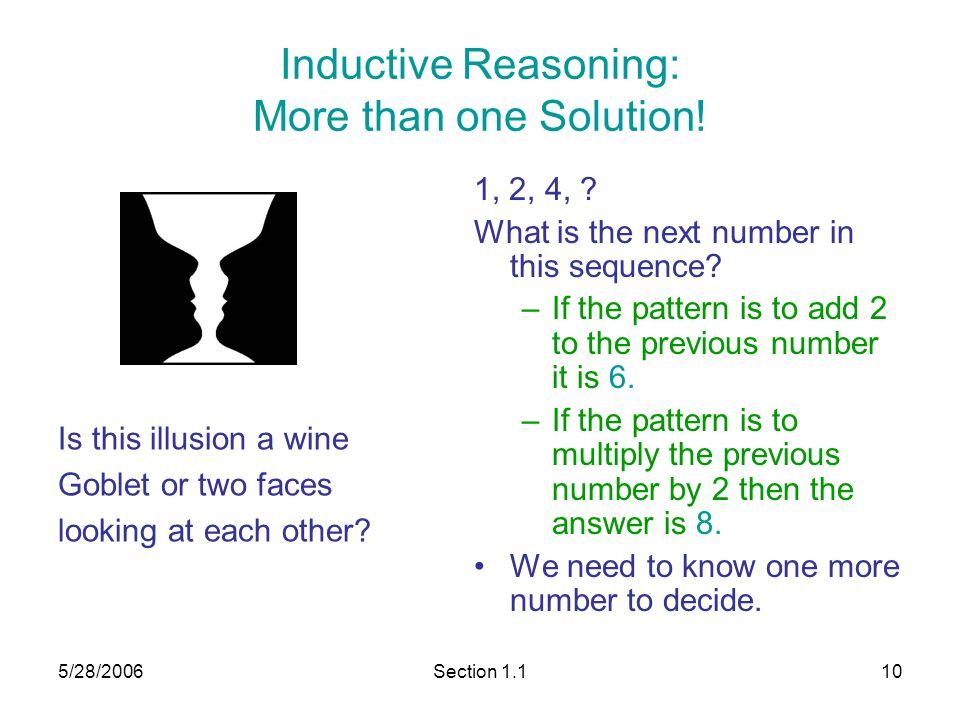 section inductive and deductive reasoning ppt video online  10 inductive reasoning