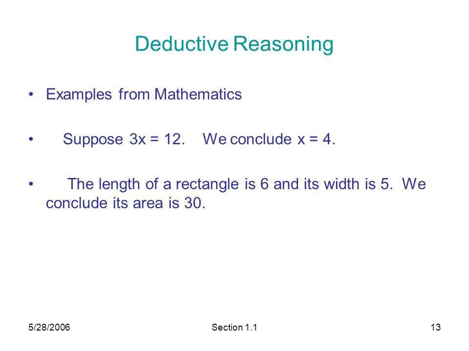 Deductive Reasoning Geometry Definition