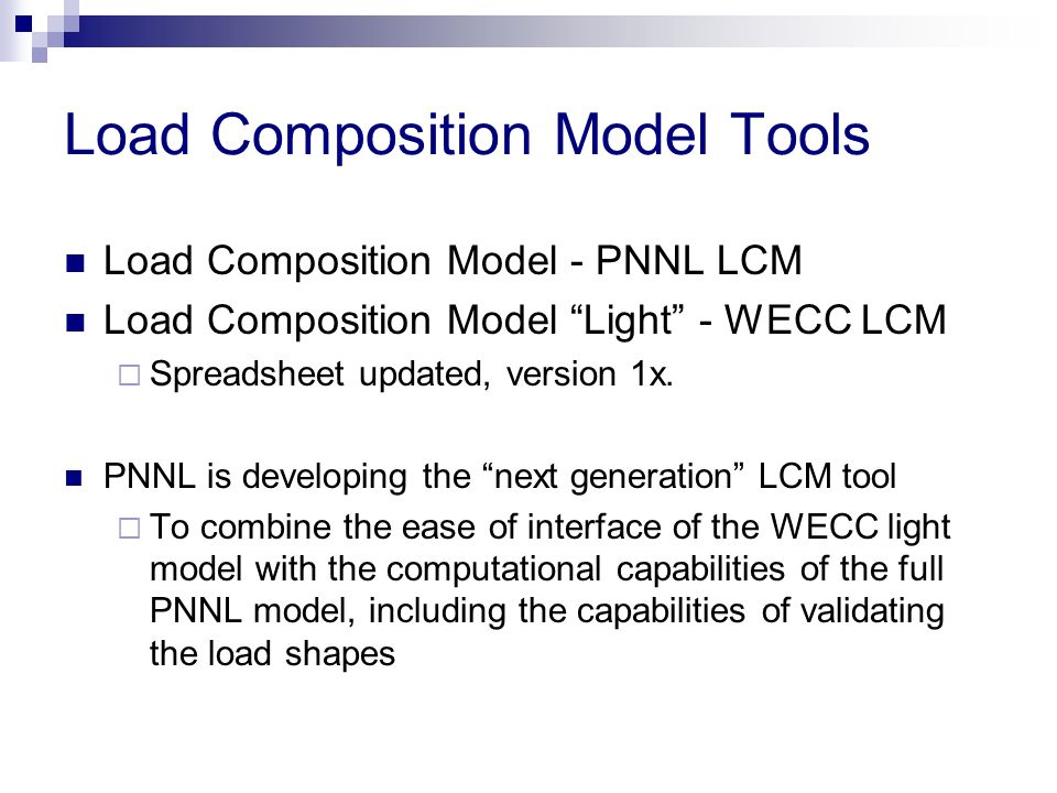 Load Composition Model Tools