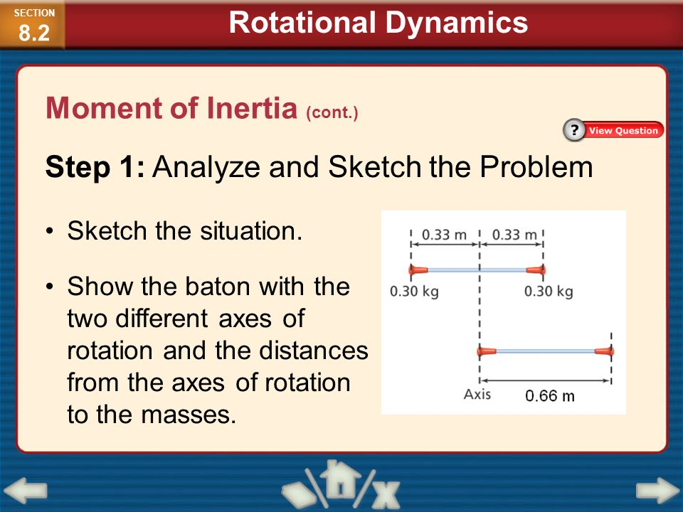 rotational dynamics moment of inertia of • rotational dynamics moment of inertia is a the rotational equivalent of mass rotational energy a rotating rigid body has kinetic energy because all atoms.