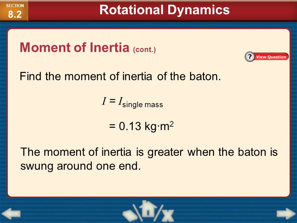 rotational dynamics moment of inertia of It is an example of pure rotational motion that is, the center of gravity of the pulley does not translate up/down or to the left/right the equations of motion for an atwood machine that has a pulley with rotational inertia are.