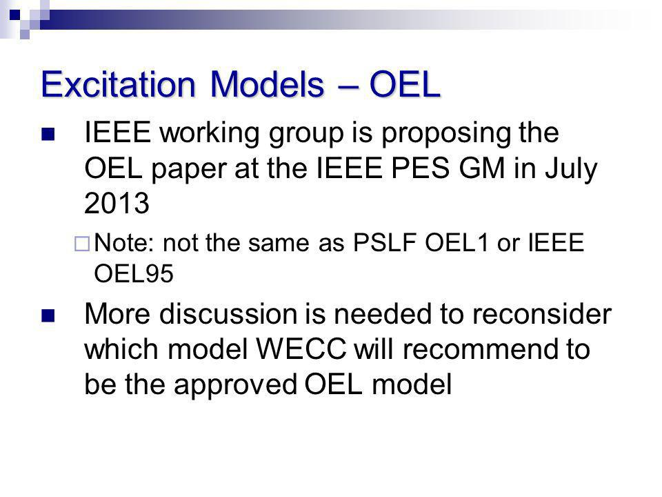 Excitation Models – OEL