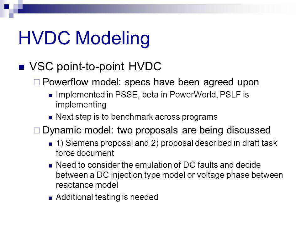 HVDC Modeling VSC point-to-point HVDC