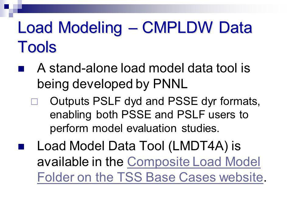 Load Modeling – CMPLDW Data Tools