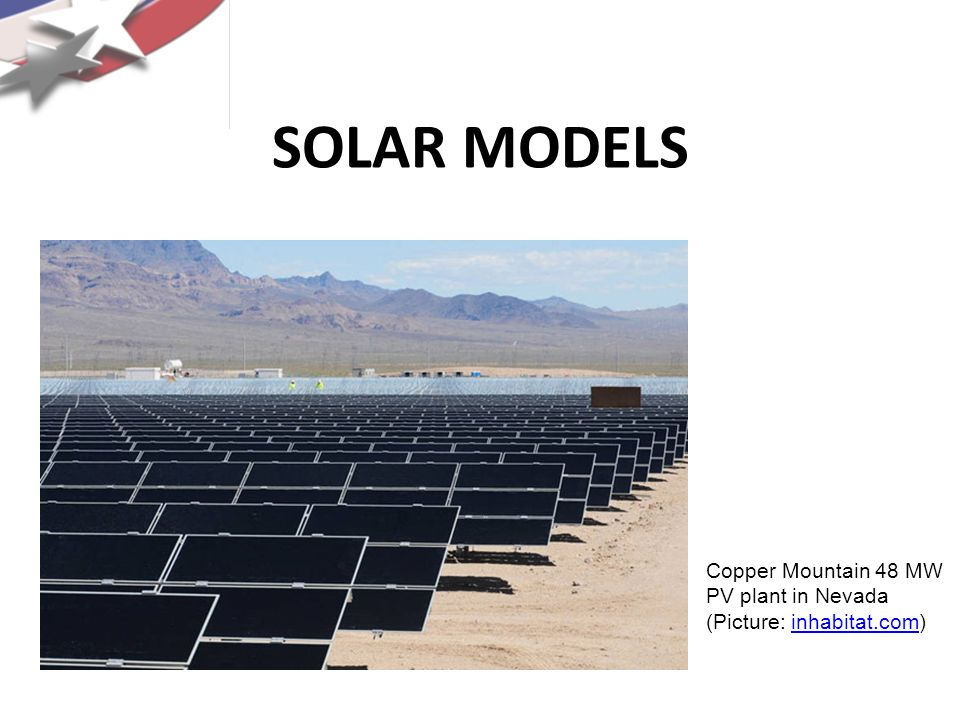 SOLAR MODELS Copper Mountain 48 MW PV plant in Nevada (Picture: inhabitat.com)
