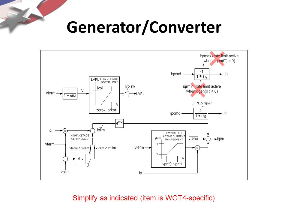 Generator/Converter Simplify as indicated (item is WGT4-specific)