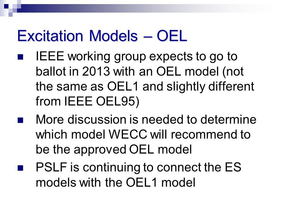 Excitation Models – OEL