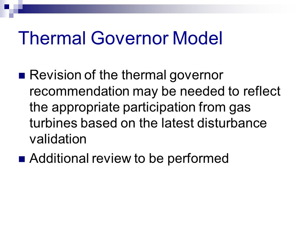 Thermal Governor Model