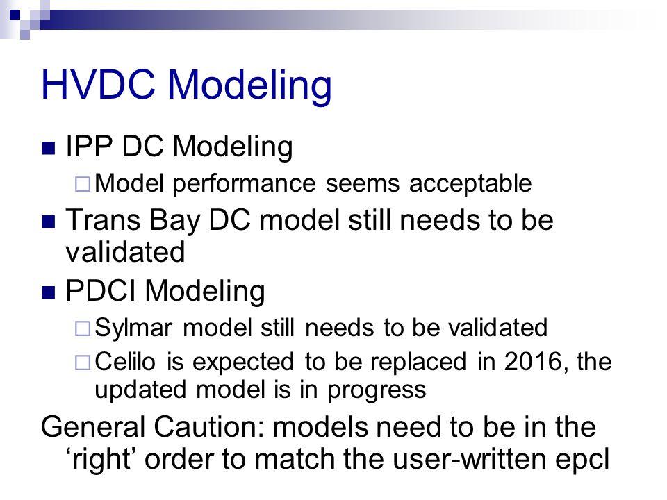 HVDC Modeling IPP DC Modeling