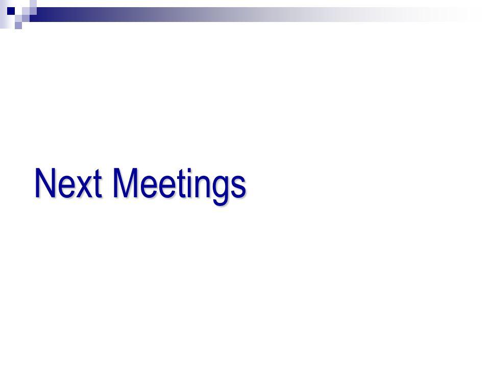 Next Meetings 35