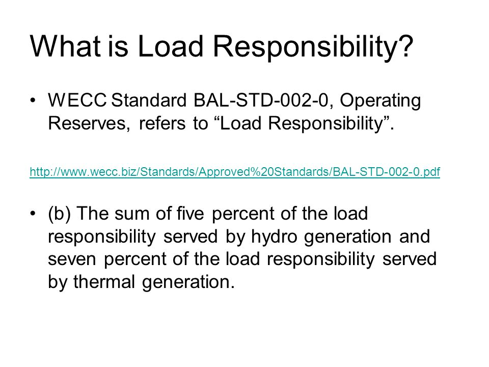 What is Load Responsibility