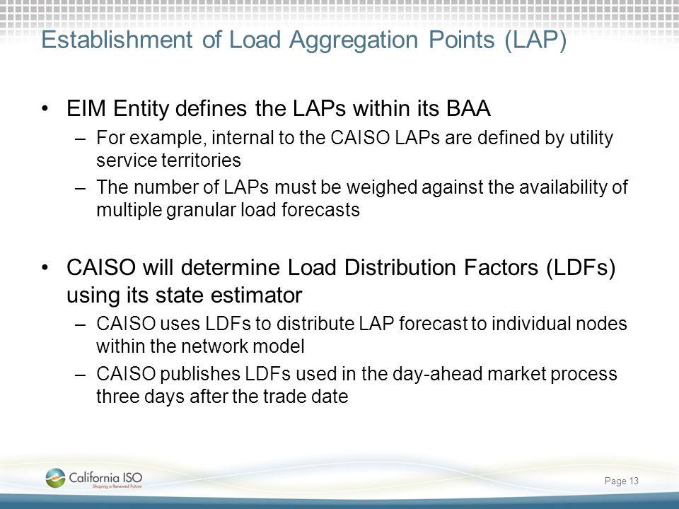 Establishment of Load Aggregation Points (LAP)