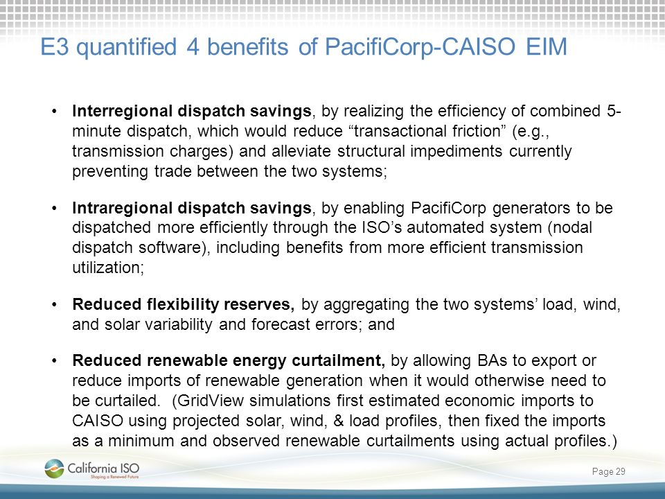 E3 quantified 4 benefits of PacifiCorp-CAISO EIM
