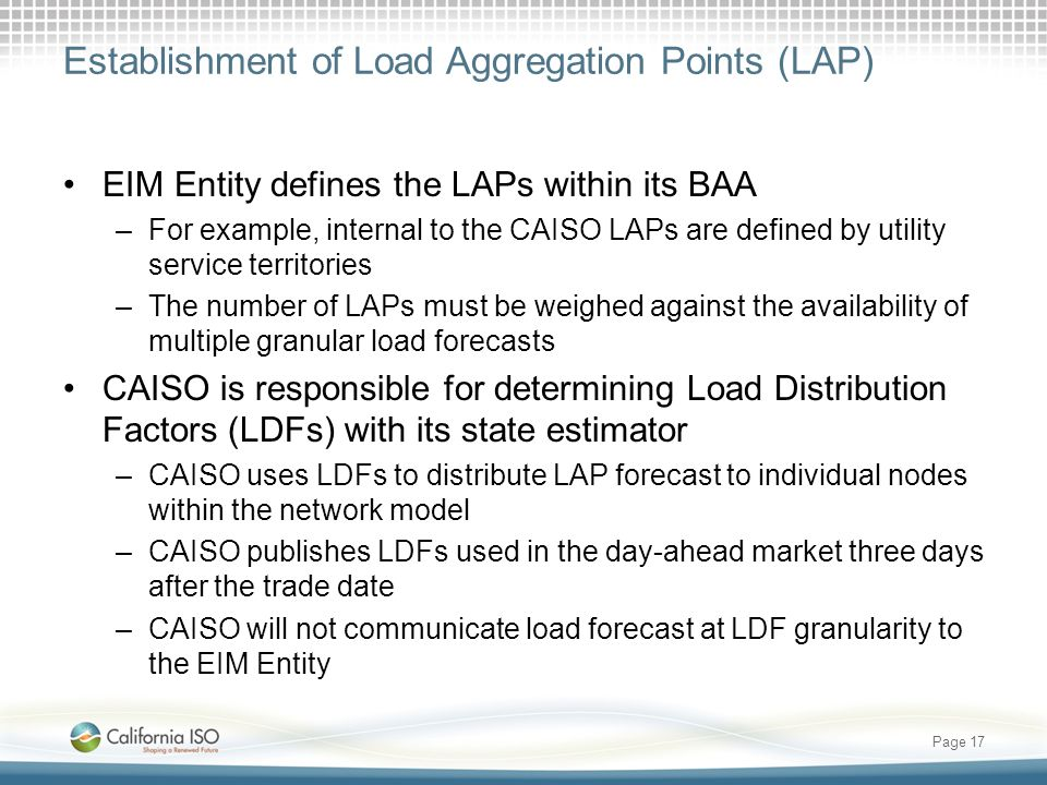 Establishment of Load Aggregation Points (LAP)