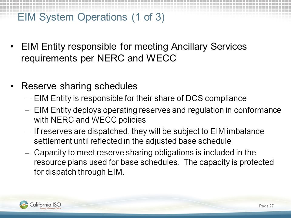 EIM System Operations (1 of 3)
