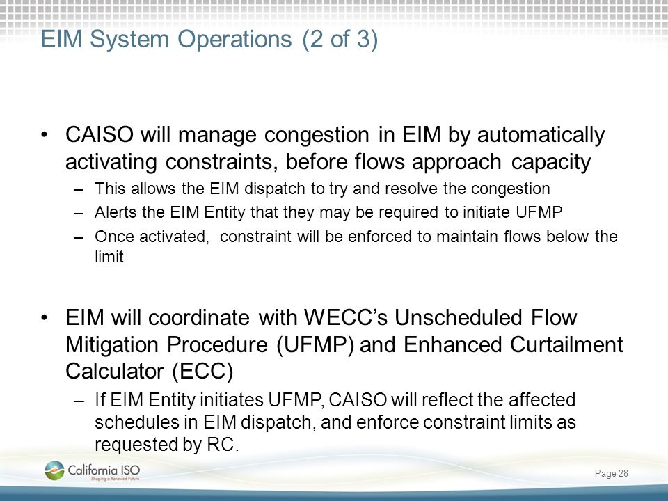 EIM System Operations (2 of 3)
