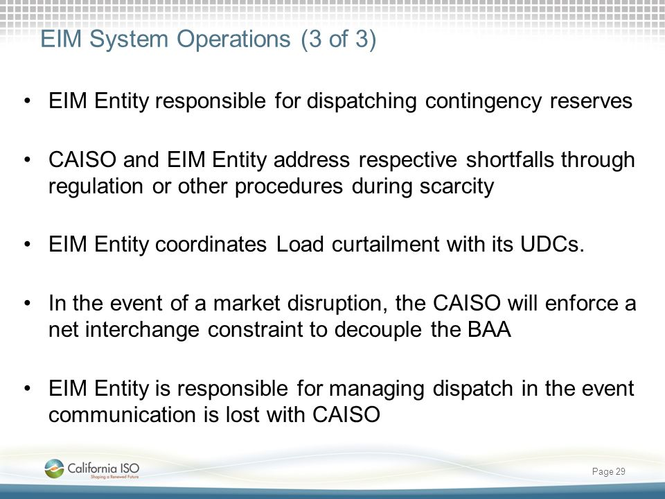 EIM System Operations (3 of 3)