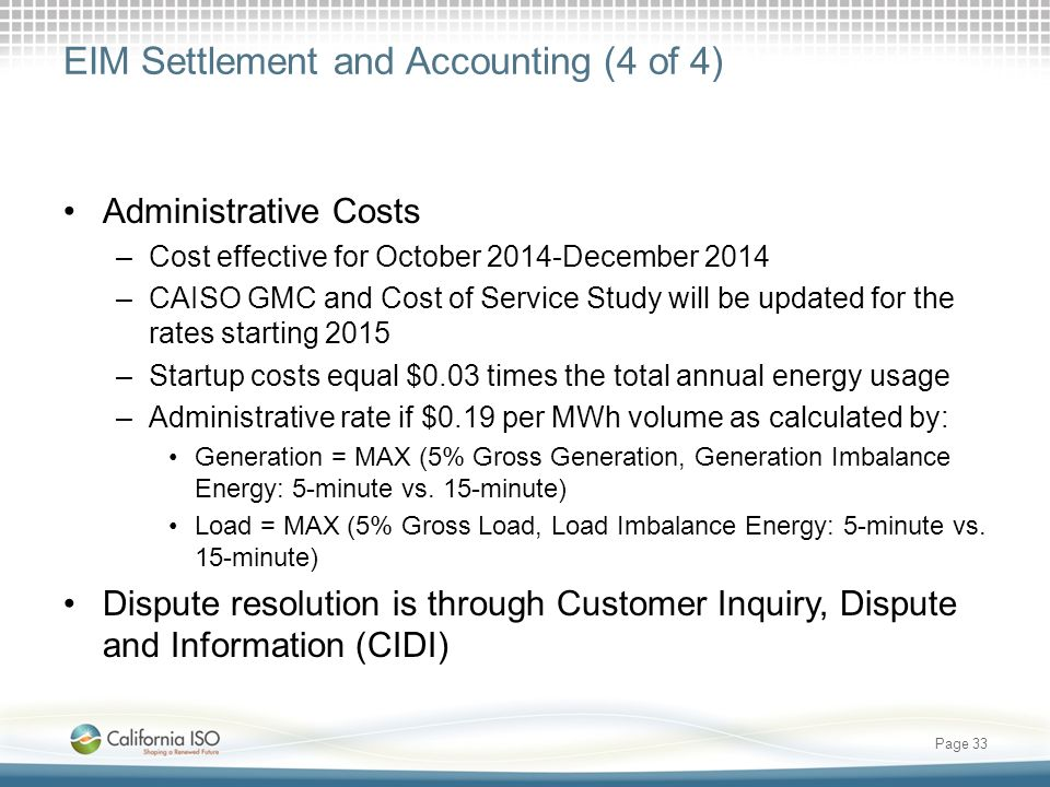 EIM Settlement and Accounting (4 of 4)
