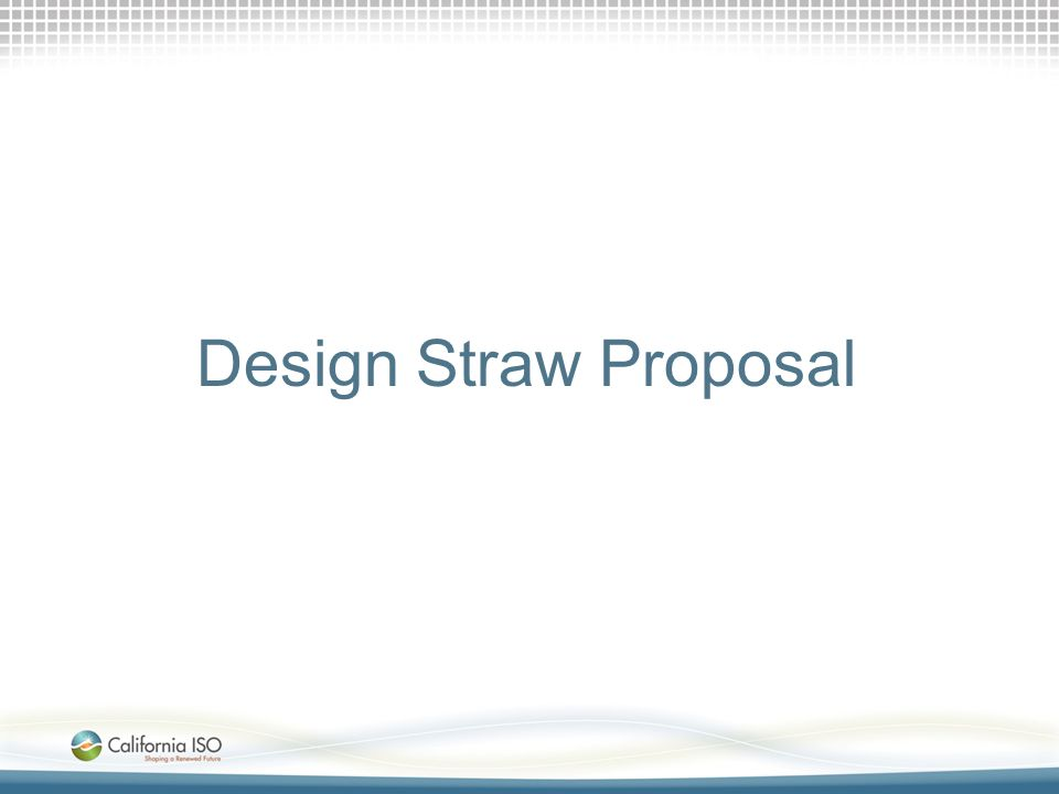Design Straw Proposal