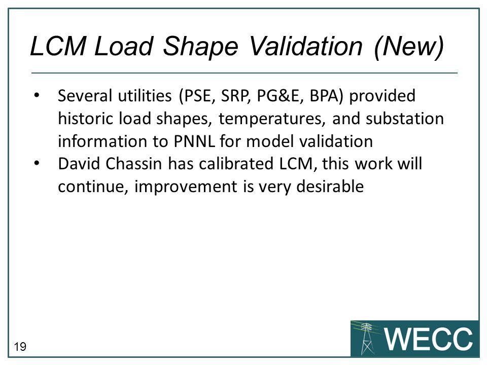 LCM Load Shape Validation (New)