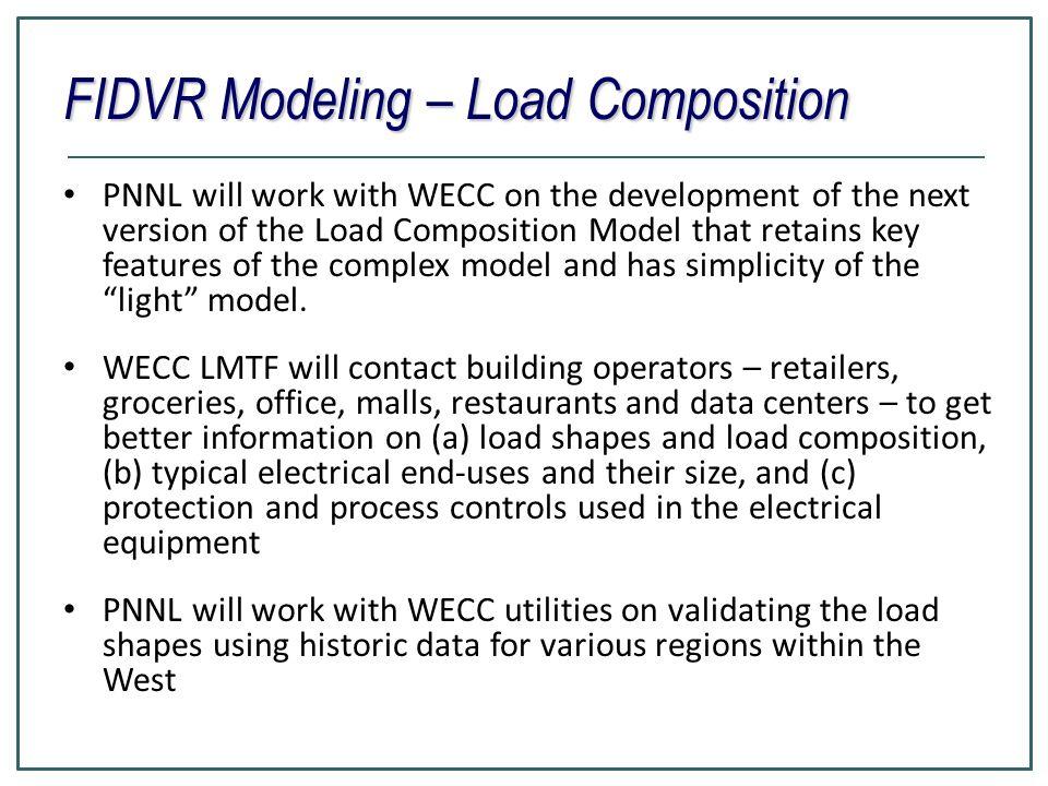 FIDVR Modeling – Load Composition