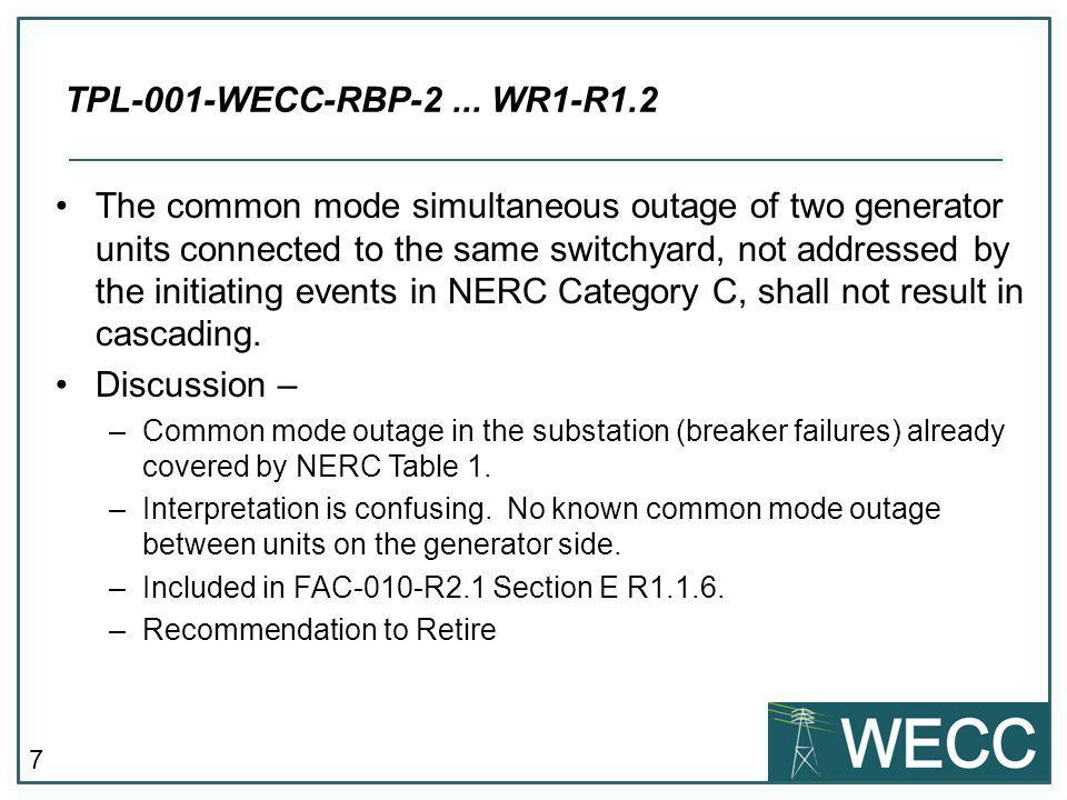 TPL-001-WECC-RBP-2 ... WR1-R1.2