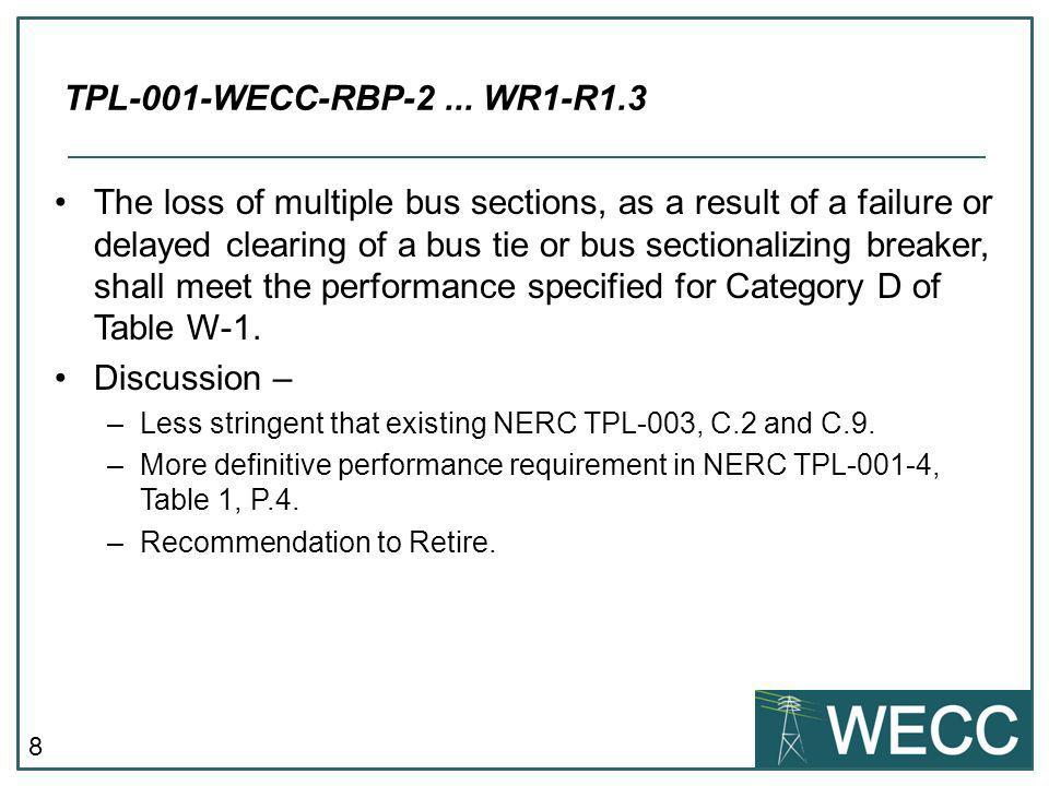 TPL-001-WECC-RBP-2 ... WR1-R1.3