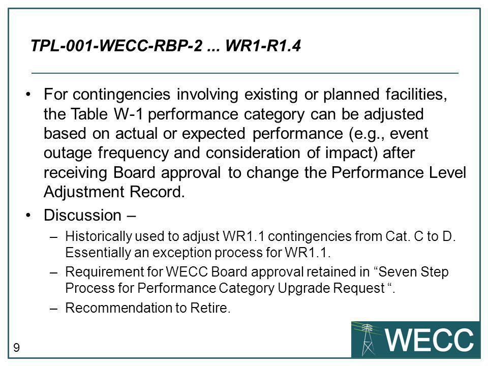 TPL-001-WECC-RBP-2 ... WR1-R1.4