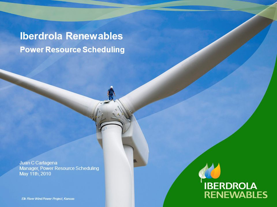 Iberdrola Renewables Power Resource Scheduling