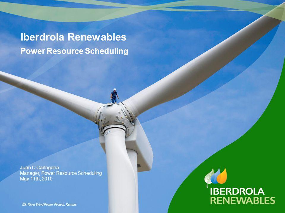 Iberdrola Renewables Power Resource Scheduling