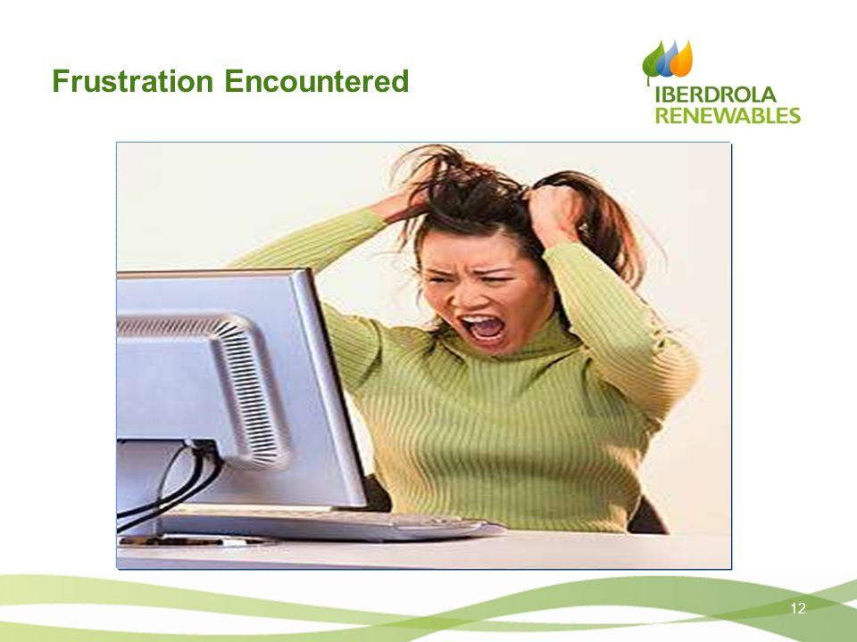 Frustration Encountered