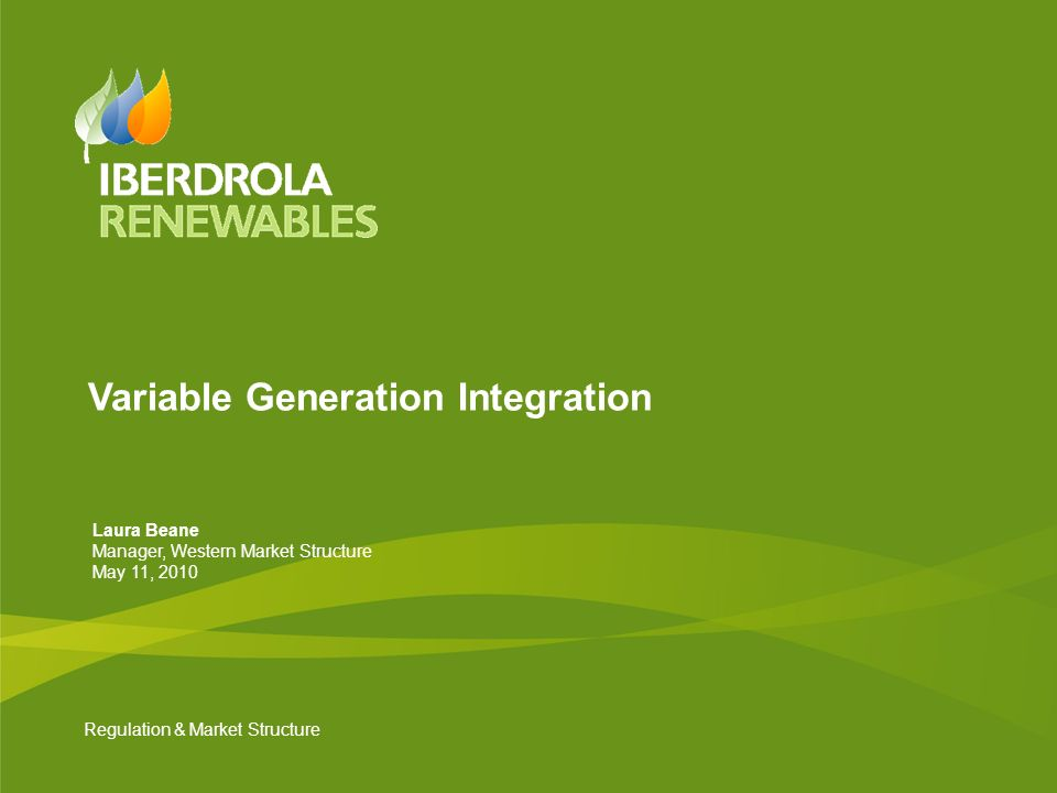 Variable Generation Integration