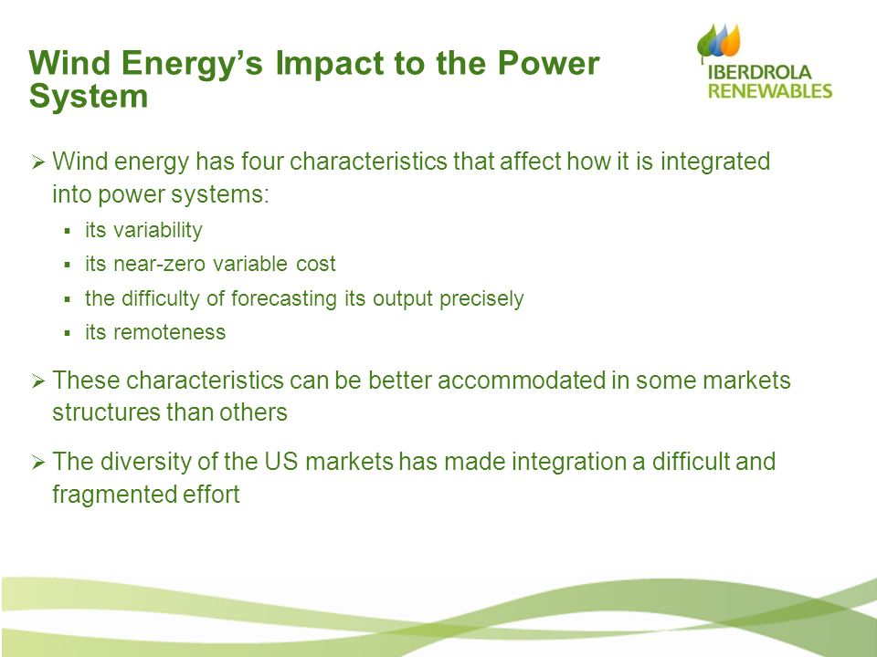 Wind Energy's Impact to the Power System