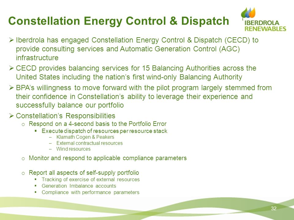 Constellation Energy Control & Dispatch