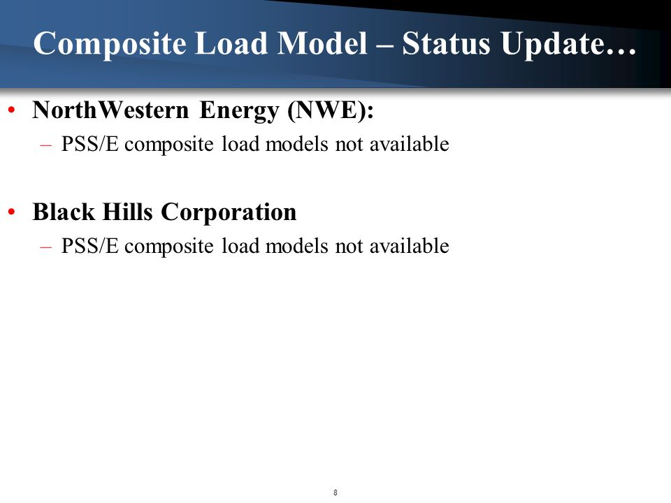 Composite Load Model – Status Update…