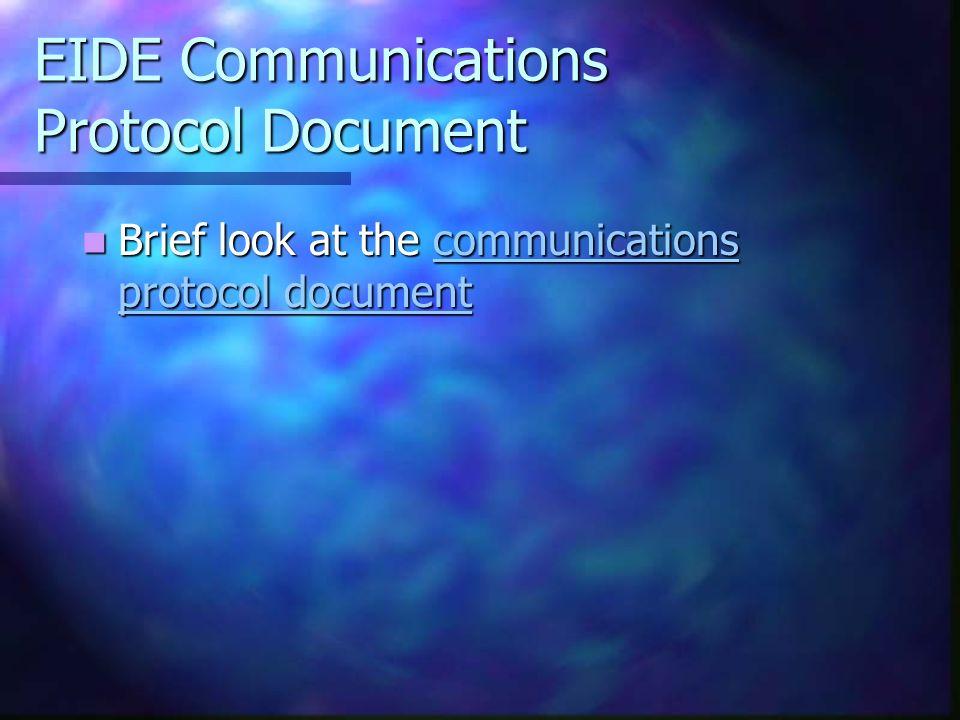 EIDE Communications Protocol Document