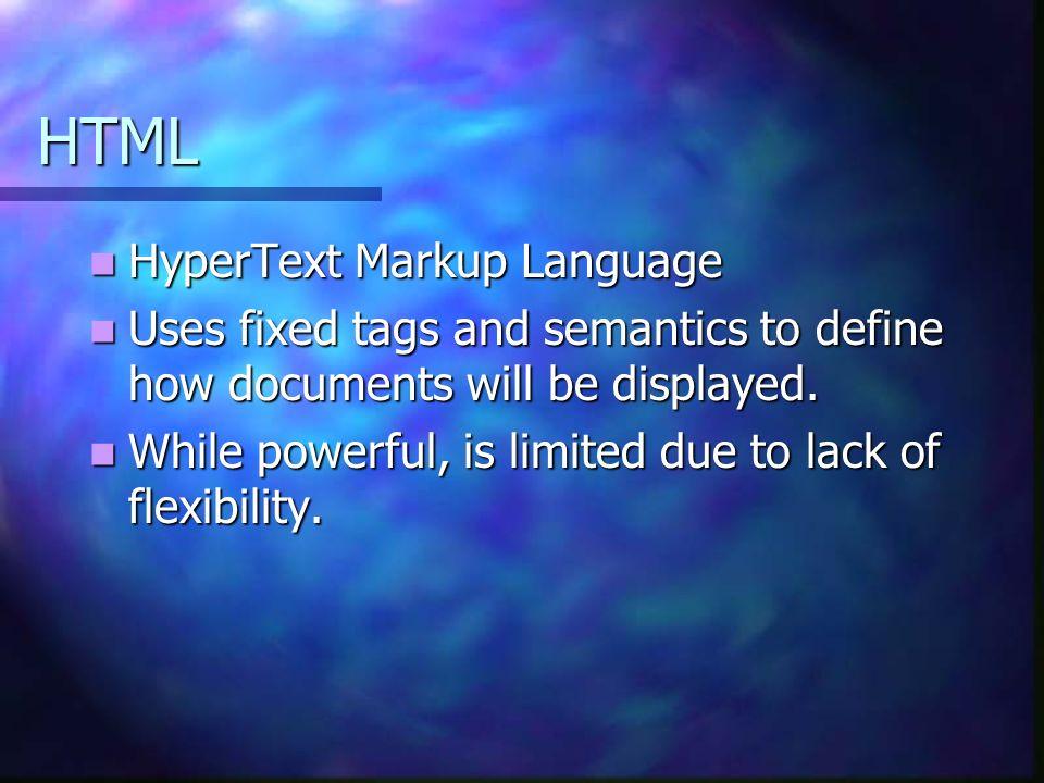 HTML HyperText Markup Language