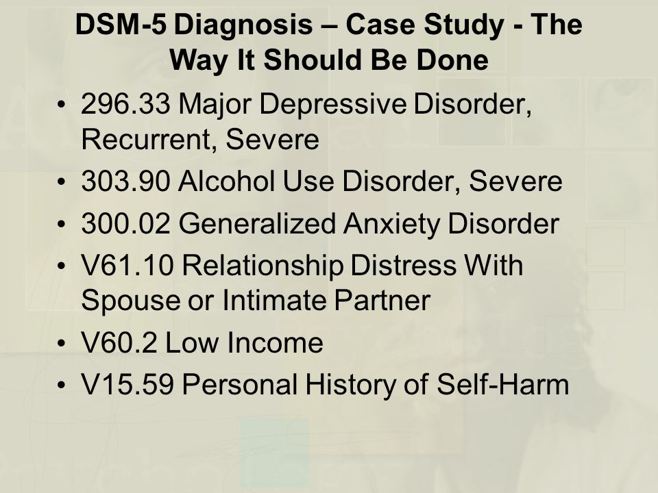 generalized anxiety case study Case study example generalized anxiety disorder case solution, analysis & case study help this condition also is described nicely by a helpguide site case study example generalized anxiety disorder about 40% of those with bipolar disorder also.