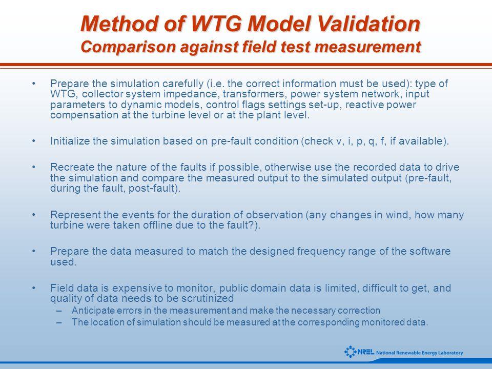 Method of WTG Model Validation