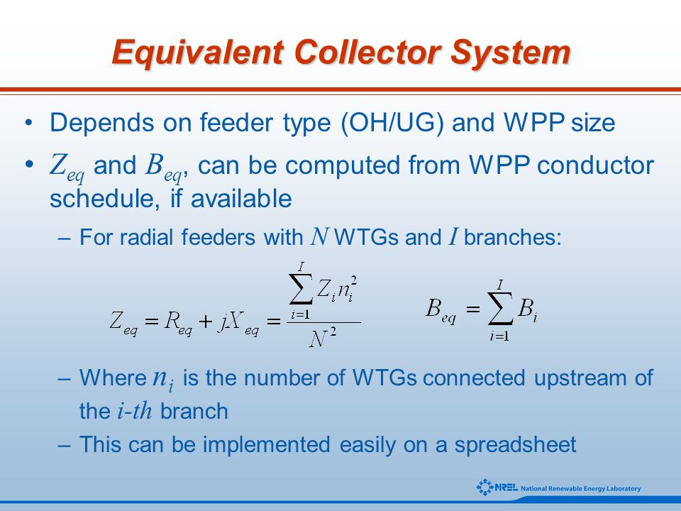 Equivalent Collector System