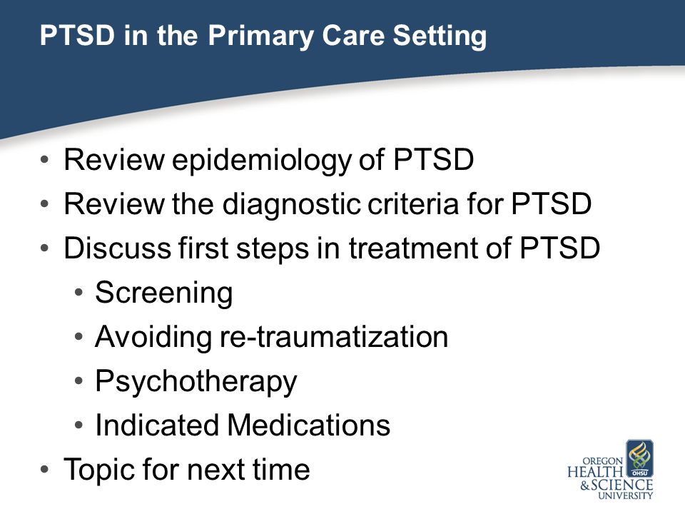review of treatment options for ptsd Experiences with combat-related ptsd treatment and to report their advice to social  veterans and their experiences with treatment specifically, the review of .