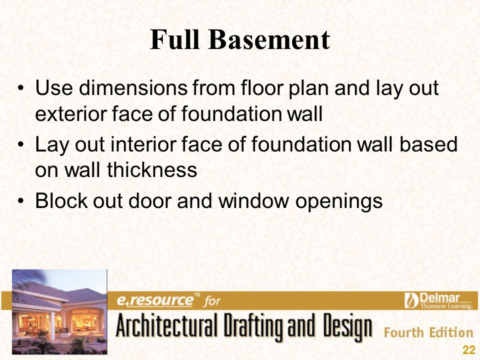 Full Basement Use Dimensions From Floor Plan And Lay Out Exterior Face Of Foundation  Wall.