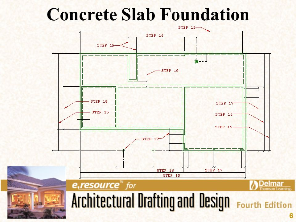 Foundation plan layout ppt video online download for Concrete slab plans