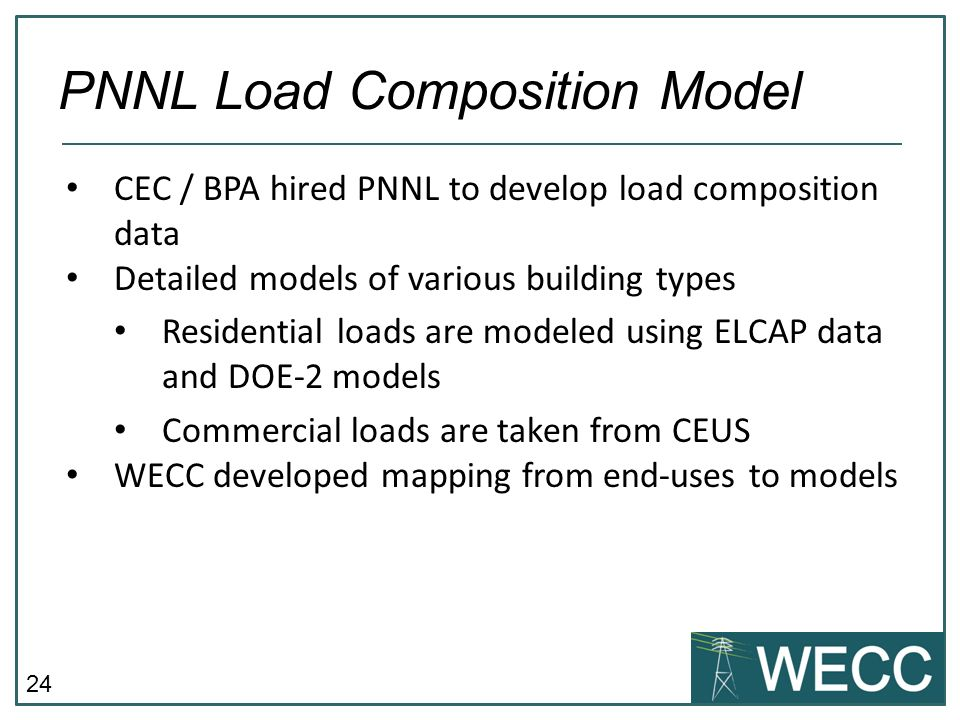 PNNL Load Composition Model