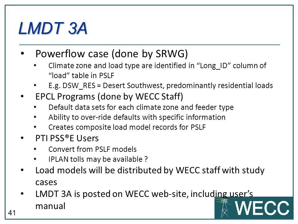 LMDT 3A Powerflow case (done by SRWG)