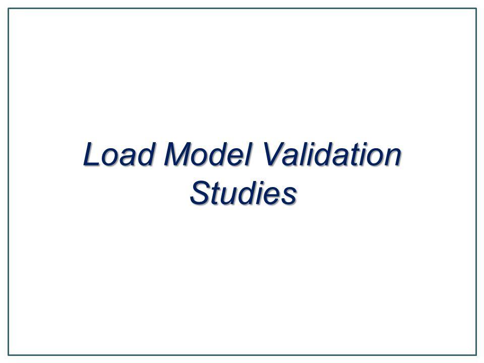 Load Model Validation Studies