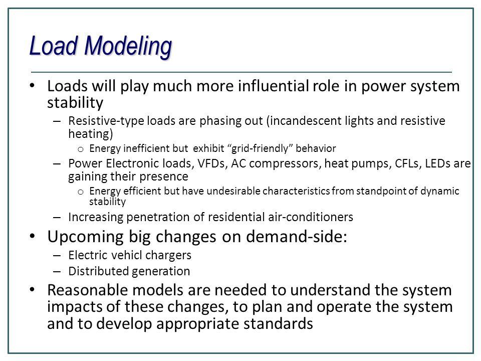 Load Modeling Upcoming big changes on demand-side:
