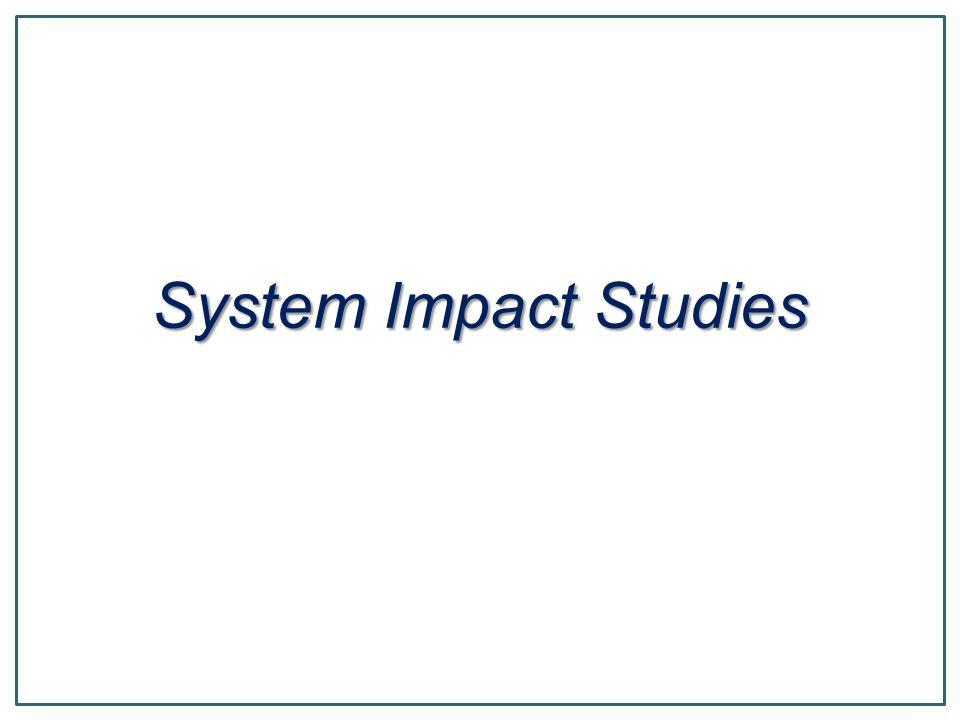 System Impact Studies