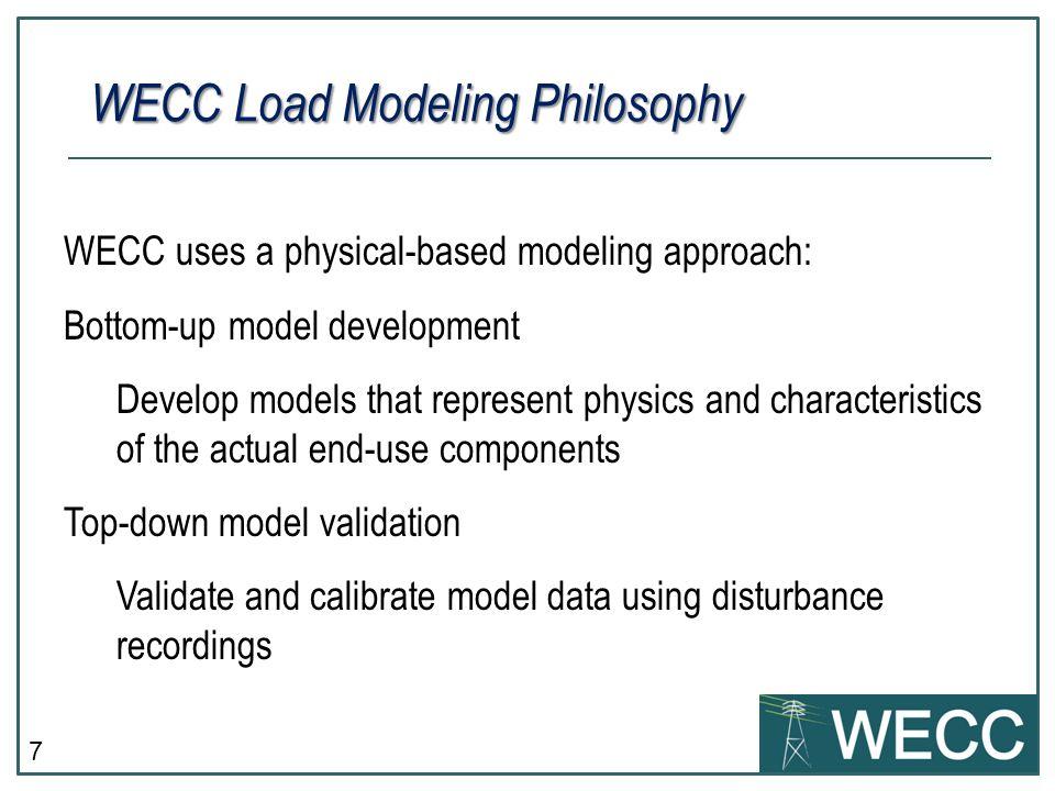 WECC Load Modeling Philosophy